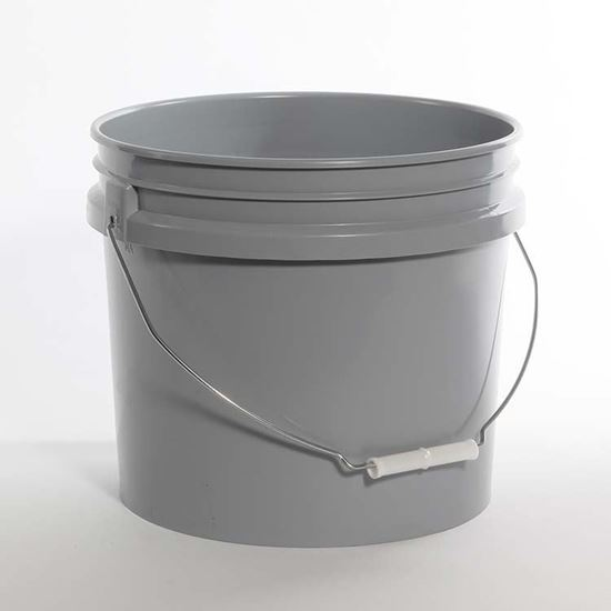 Picture of 3.5 Gallon HDPE Gray Open Head Nestable Pail
