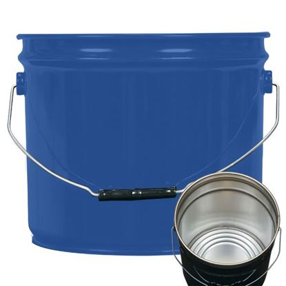 Picture of 3.5 Gallon Steel Blue Open Head Nestable Pail w/ Rust Inhibitor Lining