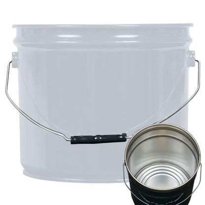 Picture of 3.5 Gallon Steel Gray Open Head Nestable Pail w/ Rust Inhibitor Lining