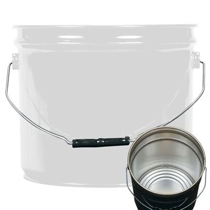Picture of 3.5 Gallon Steel White Open Head Nestable Pail w/ Rust Inhibitor Lining