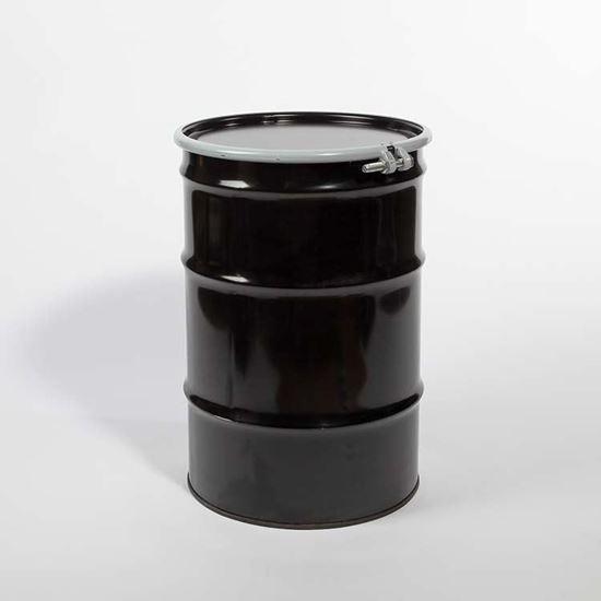 Picture of 30 Gallon Open Head  Black Steel Drum