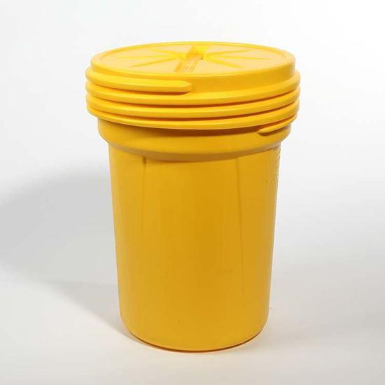 Picture of 30 Gallon Open Head Screw Top Yellow Plastic Drum