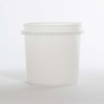 Picture of 32 oz Natural HDPE Tub Vapor Lok