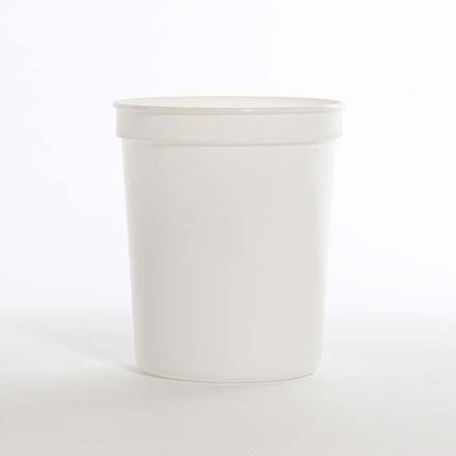 Picture of 32 oz White Co-Polymer Tub