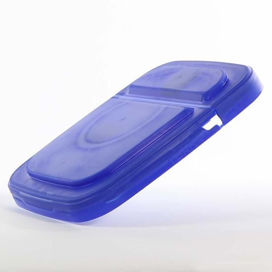 Picture of 3-4.25 Gallon HDPE Blue Cover w/ Hinged