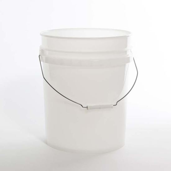 Picture of 5 Gallon HDPE Natural Open Head Nestable Pail w/ CWL