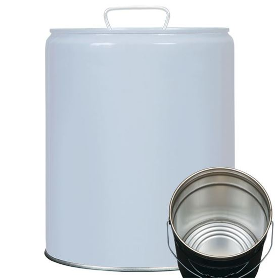 Picture of 5 Gallon Steel Gray Tight Head Pail w/ Rust Inhibitor Lining