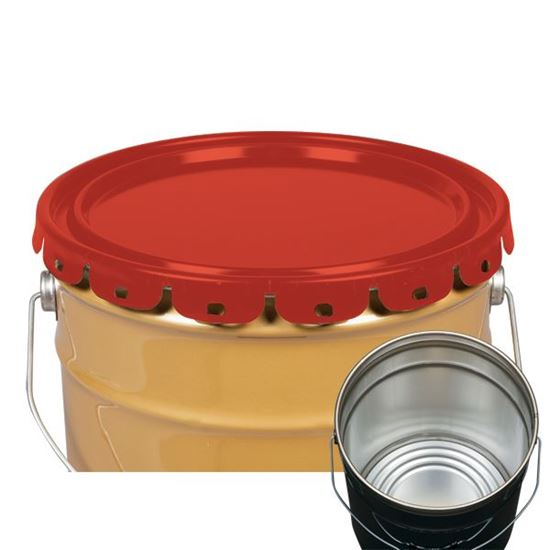 Picture of 5 Gallon Steel Red Lug Cover w/ Interior Rust Inhibitor Lining and EPDM Gasket - UN
