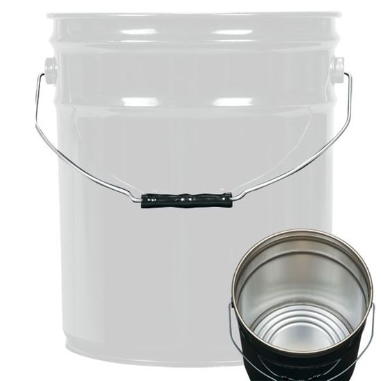 Picture of 5 Gallon Steel White Open Head Nestable Pail w/ Rust Inhibitor Lining