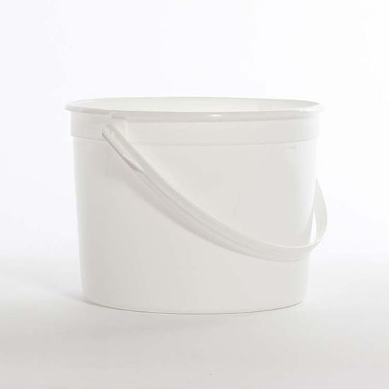 Picture of 51-85 oz White HDPE Tub w/ Plastic Handle