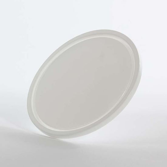 Picture of 51-85 oz White LLDPE Tub Cover Double Seal