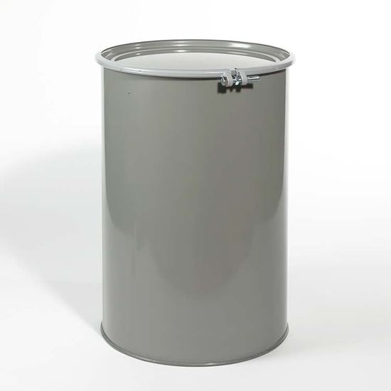 Picture of 55 Gallon Open Head Gray Steel Drum