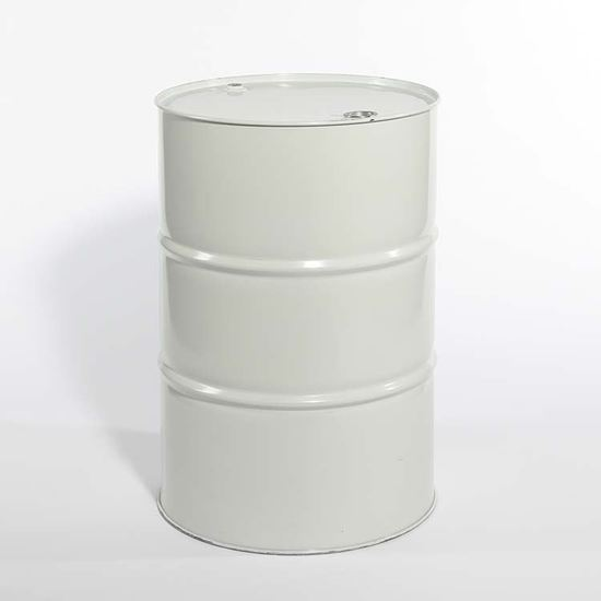 Picture of 55 Gallon Tight Head  White Steel Drum