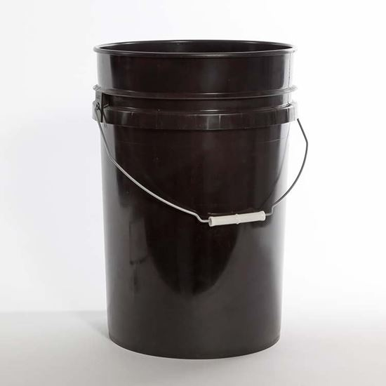 Picture of 6 Gallon HDPE Black Open Head Nestable Pail