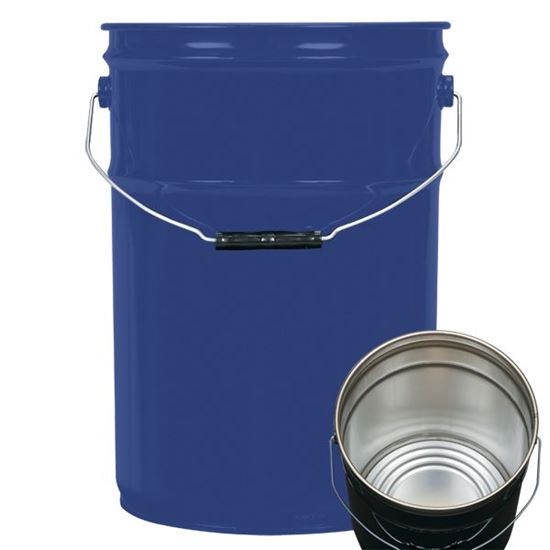 Picture of 6 Gallon Steel Blue Open Head Nestable Pail w/ Rust Inhibitor Lining