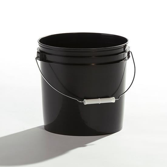 Picture of 2 Gallon HDPE Black Open Head Nestable Pail