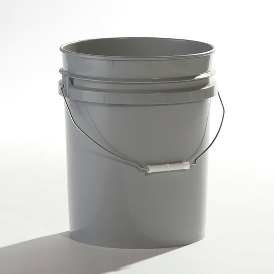 Picture of 5 Gallon HDPE Gray Open Head Nestable Pail w/ CWL