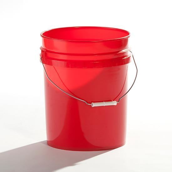 Picture of 5 Gallon HDPE Red Open Head Nestable Pail w/ Gold CWL