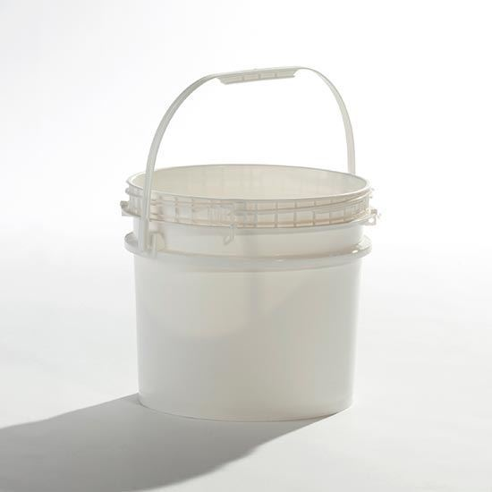 Picture of 3.5 Gallon HDPE White Open Head Nestable Pail w/ Screw Top