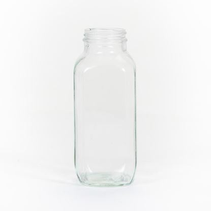 Picture of 16 oz Square Glass Bottle