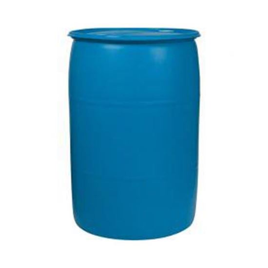 "Picture of 55 Gallon Tight Head  Blue Plastic Drum with 2"" Buttress and 2"" NPS Fittings"