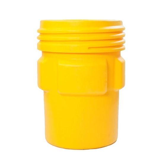 Picture of 95 Gallon Open Head Screw Top Yellow Plastic Drum