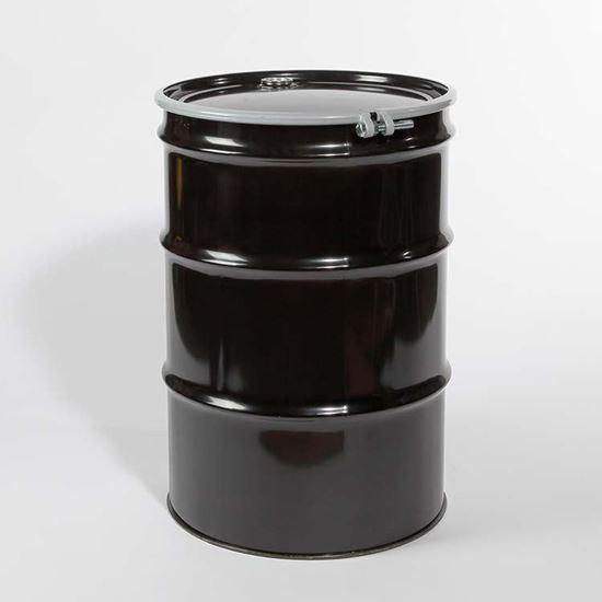 Picture of 55 Gallon Open Head  Black Steel Drum