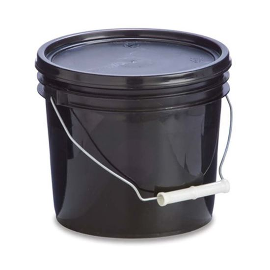 Picture of 1 Gallon HDPE Black Open Head Nestable Pail