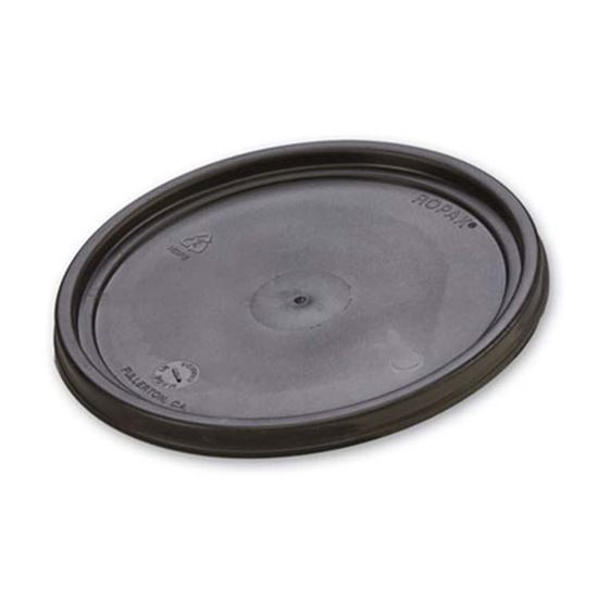 Picture of 1 Gallon HDPE Black Cover w/ Gasket