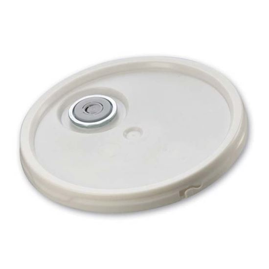 Picture of 3.5-6 Gallon HDPE White Cover w/ Tear Tab