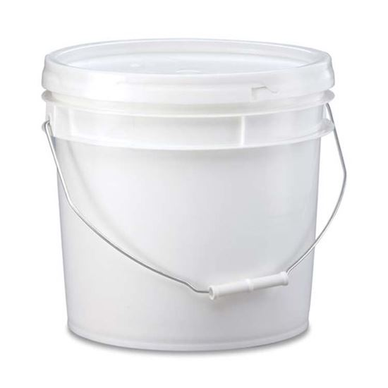 Picture of 3.5 Gallon HDPE White Open Head Nestable Pail