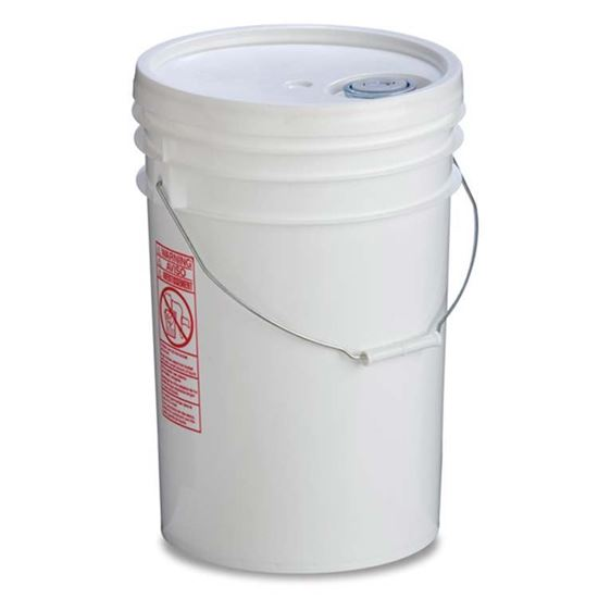 Picture of 6 Gallon HDPE White Open Head Nestable Pail