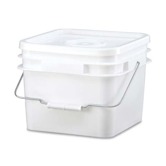 Picture of 2 Gallon HDPE White Open Head Pail