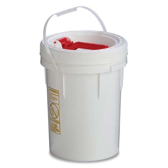 Picture of 5 Gallon HDPE White Screw Top Pail w/ Life Latch