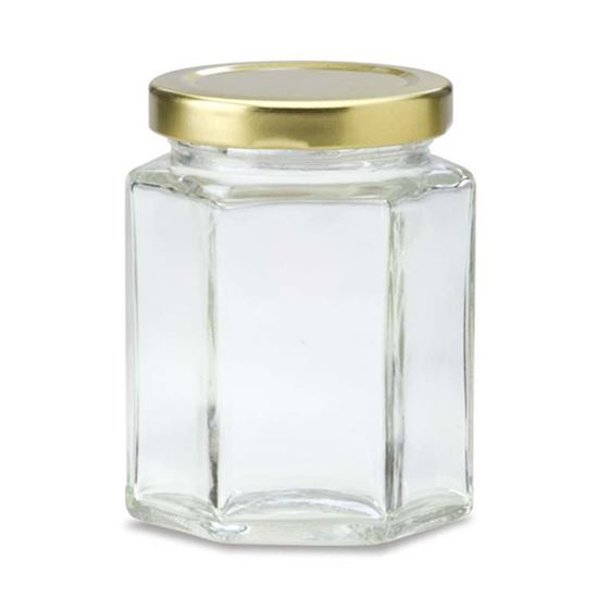 Picture of 190 ml Oval Hex Glass Jar