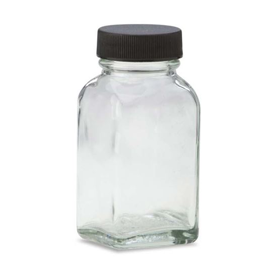 Picture of 2 oz Square Glass Bottle