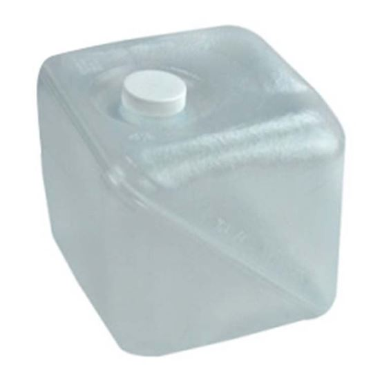 Picture of 32 oz Knocked Down Cubitainer® with White Cap