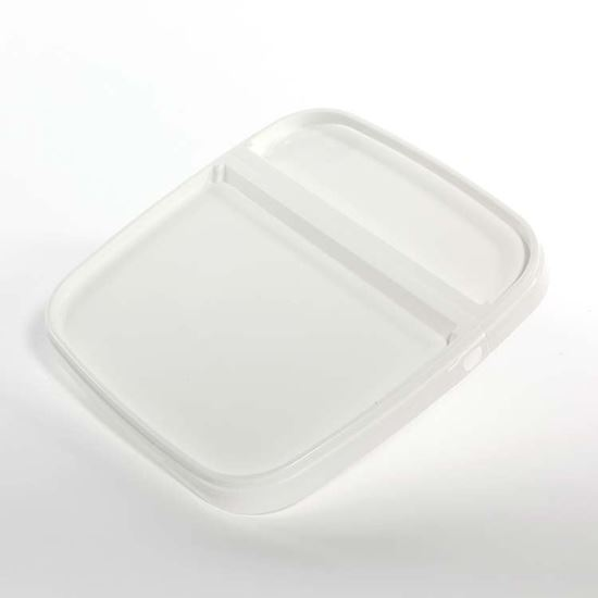 Picture of 3-4.25 Gallon HDPE White Cover w/ Hinge
