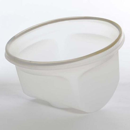 Picture of 1 Gallon Steel Natural Unipak Cradle w/ White Neoprene Tubular Gasket