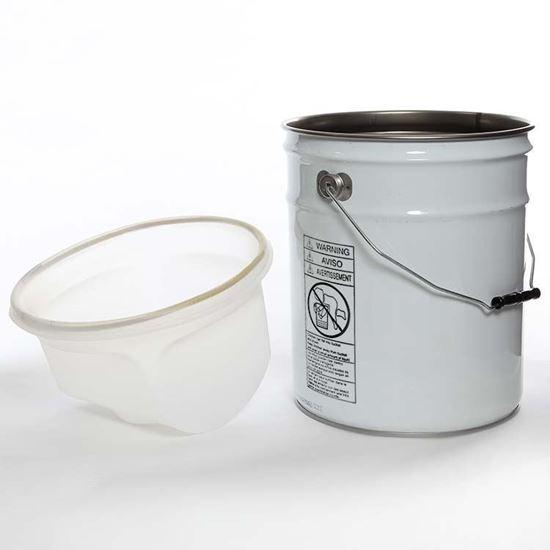 Picture of 6 Gallon Steel White Open Head Unipak Pail w/ Rust Inhibitor Lining