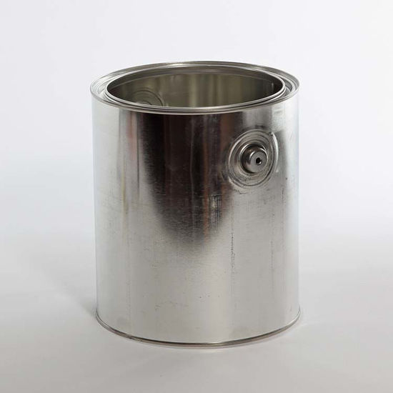 Picture of 1 Gallon Round Can, Unlined with Ears, 610x708 (Bulk Pallet)