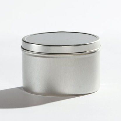"Picture of 1 lb Ink Tin, Unlined, 3.75""x2.5"" with Lid"