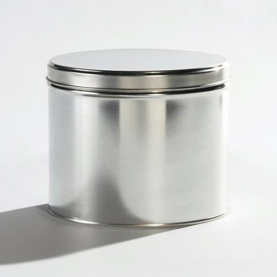 "Picture of 5 lb Ink Tin, Unlined, 6 1/8""x5"" with Lid"