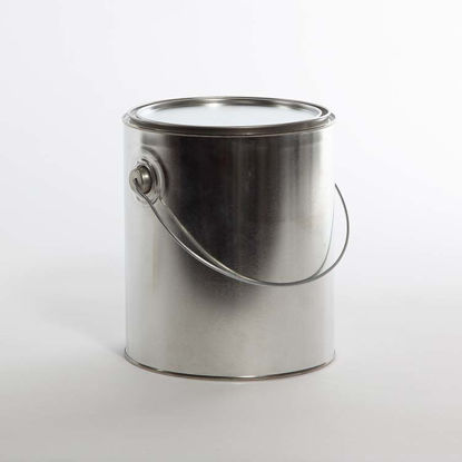 Picture of 1 Gallon Round Can, Unlined, Ears and Bails, 610x708 with Plug, 34/Case