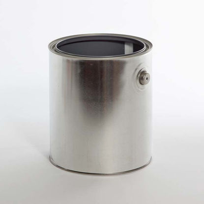 Picture of 1 Gallon Round Can, Gray Lined with Ears, 610x708 with Plug, 34/Case