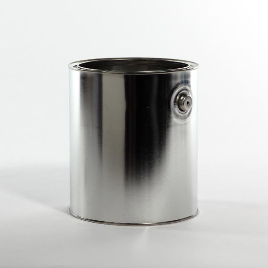 Picture of 1 Gallon Round Can, Unlined with Ears, 610x708 (Bulk Pallet) (Hazmat Bottom)
