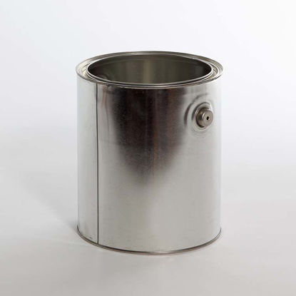 Picture of 1 Gallon Round Can, Unlined with Ears and Bails, 610x711, Hazmat Bottom and Plug, 34/Case