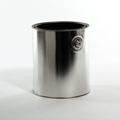 Picture of 1 Gallon Round Can, Gray Lined with Ears, 610x711 (Bulk Pallet)