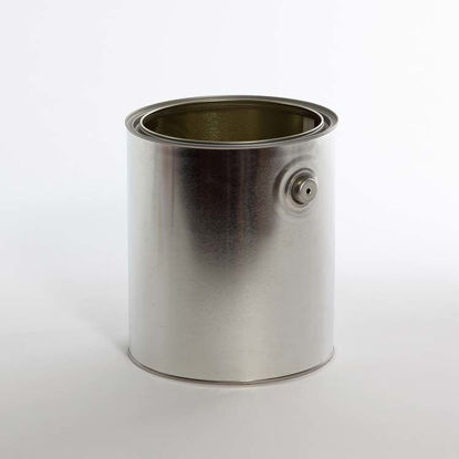 Picture of 1 Gallon Round Can, Gray Lined with Ears and Bails, 610x711 with Plug, 34/Case (Hazmat Bottom)