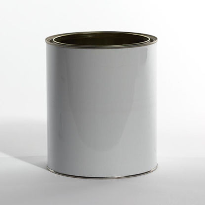 Picture of 1 Gallon White Round Can, Double Gold Lined, No Ears, 610x711 (Bulk Pallet)